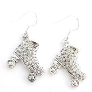 Roller Skate Crystal Fashion Earrings